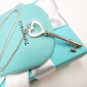 Authentic TIFFANY & CO Open Heart Key Necklace